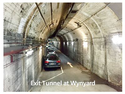 Wynyard exit tunnel